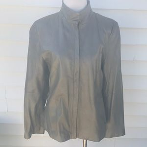 Kenneth Cole amazing silver leather jacket